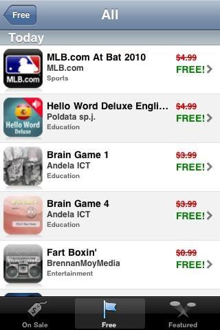 on sale app free