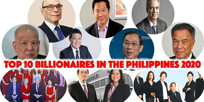Forbes List of Top 10 Filipino Billionaires in 2020
