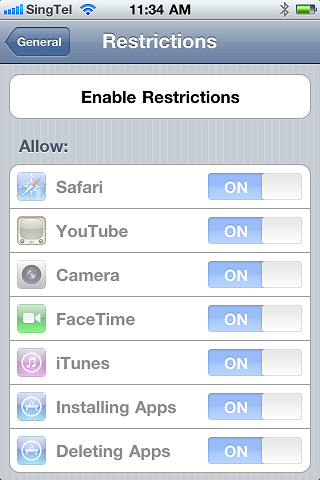 iphone tips and tricks setting parental control