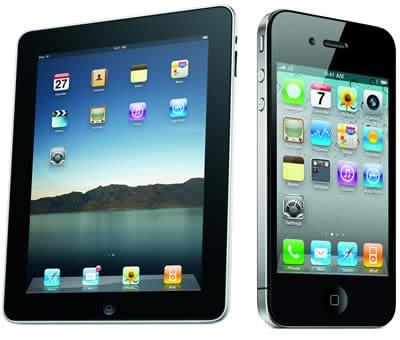 apple iphone and ipad