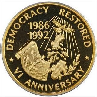 10000 aquino gold coin