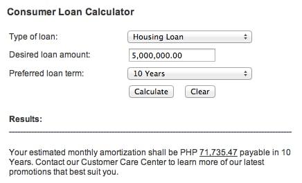consumer loan calculator