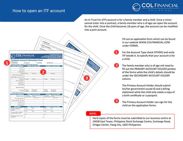 How to open an ITF account