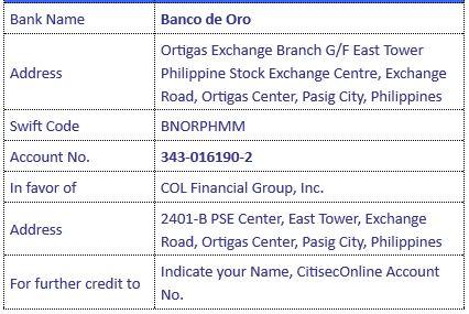 citisec bank account